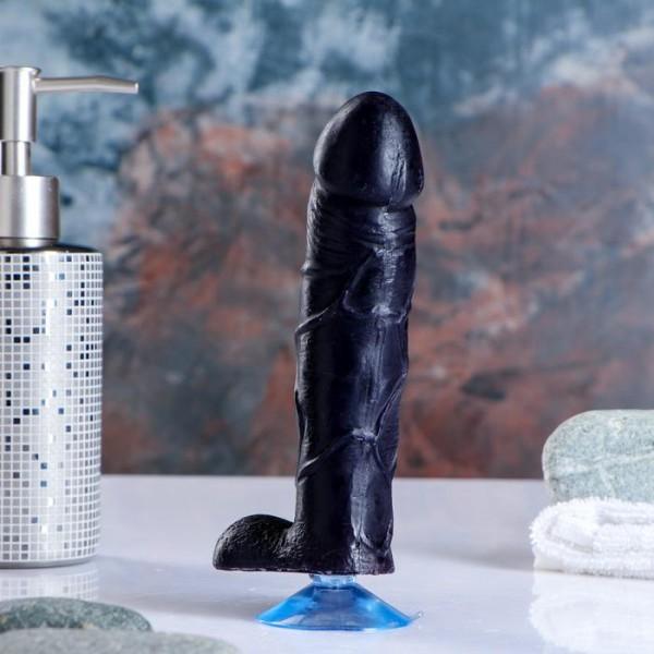 """Фигурное мыло """"Фаворит"""" на присоске,чёрный принц"""