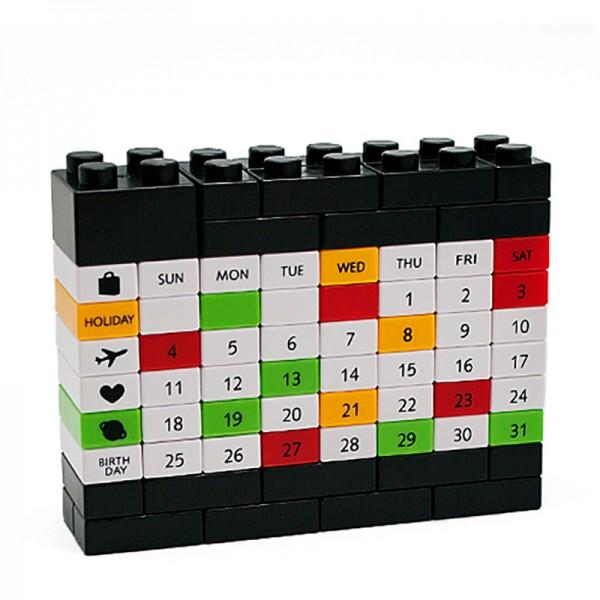 Вечный Календарь LEGO черный