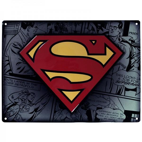 Металлическая картина  Супермен