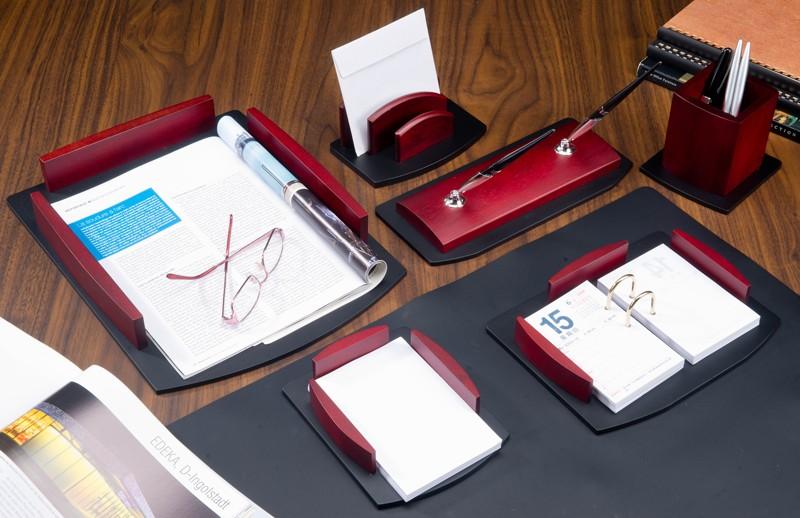 Настольный набор для руководителя Bestar 7 предметов Красное дерево 7184HDU