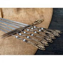 Набор шампуров Дикий кабан с вилкой в колчане