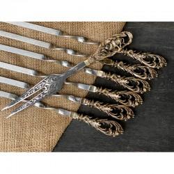 Набор шампуров Морской бриз с вилкой в колчане