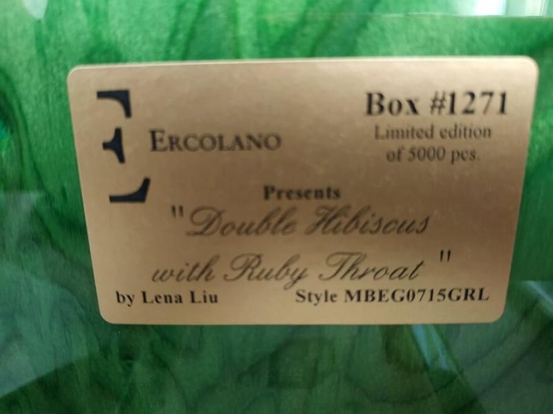 Музыкальная шкатулка ERCOLANO для украшений Double Hibiscus