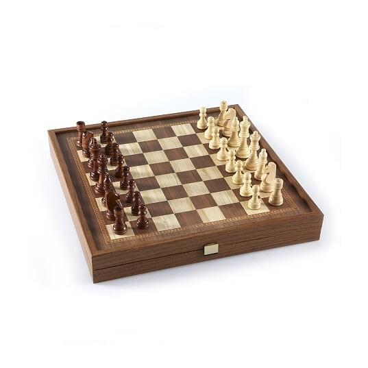 Набор Manopoulos  шахматы и нарды в деревянном футляре