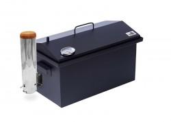 Коптильня с дымогенератором и термометром окрашенная 520х300х310