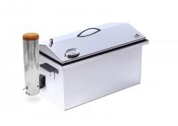 Коптильня с дымогенератором и термометром из нержавейки 520х310х300