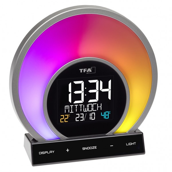 Будильник световой цифровой TFA Soluna