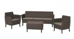 Набор мебели, Salemo 3 seater set, коричневый