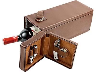 Футляр для бутылки вина с набором винных аксессуаров
