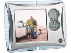 Рамка для фотографии 9х9 см с часами и датой с подсветкой