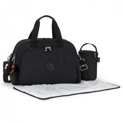 BASIC PLUS / Dazz Black Сумка Baby Bag Camama двуручн. с ковриком пеленания (22л) (43,5x27,5x28см)