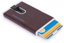 BL SQUARE/Cognac Кредитница с выдвижным механизмом с RFID защитой (6,2x10,5x1,2)