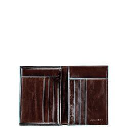BL SQUARE/Cognac Портмоне верт. с отдел. для 6 кред.карт (9,5x12,5x2)