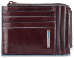 BL SQUARE/Cognac Кредитница с отдел. для монет на молнии с RFID защитой (12,5x9x1)