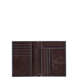 BL SQUARE/Cognac Портмоне верт. с отдел. для 9 кред.карт (9,5x12,5x1,5)