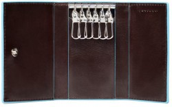 BL SQUARE/Cognac Ключница на 6 ключей (7x10x1,5)