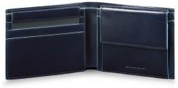 BL SQUARE/N.Blue Портмоне гориз. с отдел. для монет с RFID защитой (11x9x2)