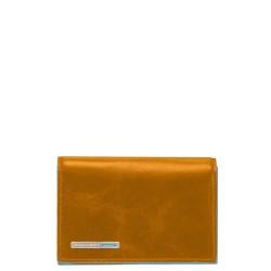 BL SQUARE/Yellow Визитница для своих визиток на кнопке (10,8x7,5x1,5)
