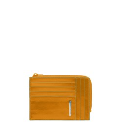 BL SQUARE/Yellow Кредитница с отдел. для монет на молнии (12,5x9x1)