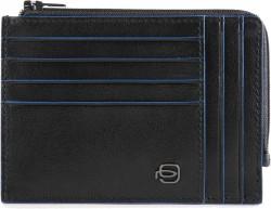 B2S/Black Кредитница с отдел. для монет на молнии с RFID защитой (12,5x9x1)