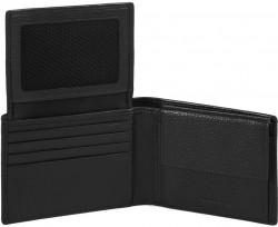 MODUS Restyling/Black Портмоне гориз. с отдел. для док. с RFID защитой (12,5x9x2)