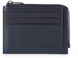 URBAN/Blue Кредитница с отдел. для монет на молнии с RFID защитой (11,5x8x1)