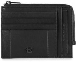 BRIEF/Black Кредитница с отдел. для монет на молнии с RFID защитой (12,5x9x1)