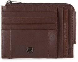 BRIEF/D.Brown Кредитница с отдел. для монет на молнии с RFID защитой (12,5x9x1)
