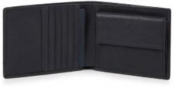 BRIEF/Blue Портмоне с отдел. для монет с RFID защитой (12x9,5x2)