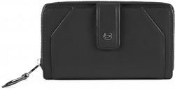 MUSE/Black Портмоне верт. карман для монет на молнии с RFID защитой (17,5x10x3)