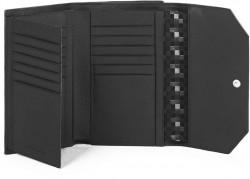 MUSE/Black Портмоне верт. с отдел. для 18 кред.карт с RFID защитой (10,5x15,5x3)