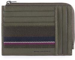 B3S/Green Кредитница с отдел. для монет на молнии с RFID защитой (12,5x9x1)