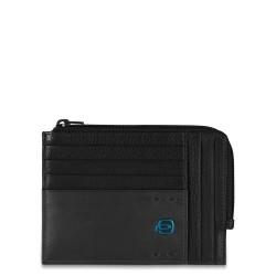 PULSE/Black Кредитница с отдел. для монет на молнии (12x9x1)