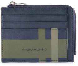 TAG/CheckBlue Кредитница с отдел. для монет на молнии с RFID защитой (11,5x8x1)
