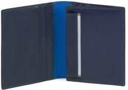 BOLD/Blue Портмоне верт. с отдел. ID с RFID защитой (9,5x13x2)