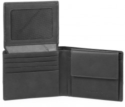 TIROS/Grey Портмоне гориз. с отдел. для док. и монет с RFID защитой (11x9x2)
