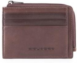 VOSTOK/D.Brown Кредитница с отдел. для монет на молнии с RFID защитой (11,5x8x1)