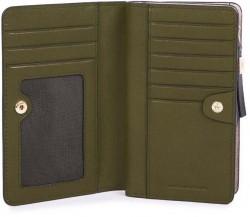 CIRCLE/Green Портмоне верт. с отдел. для монет на молнии с RFID защитой (9,5x15,5x2,5)