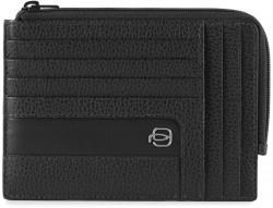 ERSE/Black Кредитница с отдел. для монет на молнии (12,5x9x1)