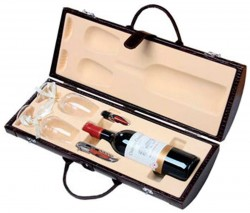 Тубус для вина с винными аксессуарами Рислинг