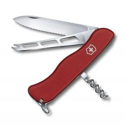 CHEESE KNIFE 111мм/6функ/крас.мат /lock2/волн/штоп/сыр