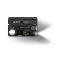 SWISSCARD LITE 82х54х4мм/12функ/черн.прозр /ножн/LED/отверт/ручка