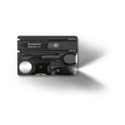 SWISSCARD LITE 82х54х4мм/12функ/черн.прозр /ножн/LED/отверт/ручка (блистер)
