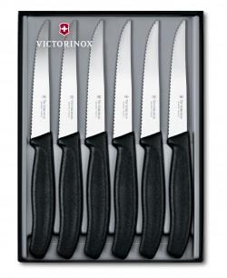 Набор кухонный SwissClassic Steak Gift Set 6 ножей 11см волн. с черн. ручкой (GB)