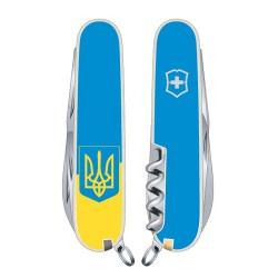 CLIMBER UKRAINE 91мм/14предм/бел /штоп/ножн/крюк /желт-голуб. с Гербом/голуб.