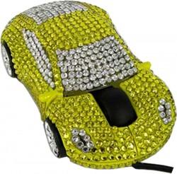 Компьютерная мышка автомобиль со стразами