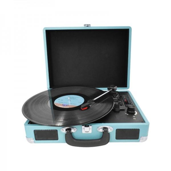 Проигрыватель для виниловых пластинок AudioCase голубой