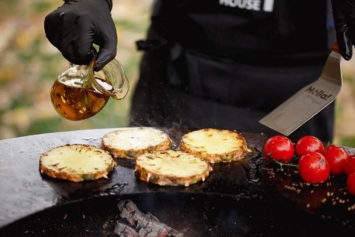Гриль-мангал барбекю HOLLA GRILL закрытая тумба