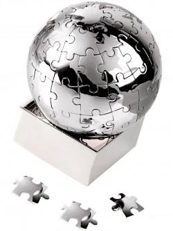 Головоломка Земной шар в виде паззлов на магните