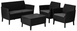 Набор мебели Salemo set  коричневый - серо-бежевый